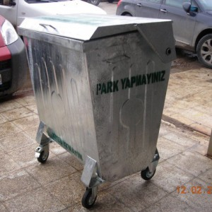 ÇK 23 400 lt Galvanizli Çöp Konteynerı